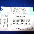 ALAN JACKSON CONCERT TICKET STUB - WICHITA - 1999