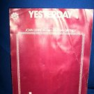 SHEET MUSIC-YESTERDAY, MCCARTNEY & LENNON,PIANO,GUITAR