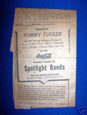VINTAGE COCA-COLA VICTORY PARADE AD, TOMMY TUCKER BAND