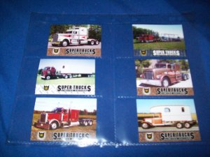 SET OF 6 CAT SCALE SUPER TRUCKS COLLECTOR CARDS - LIMITED EDITION (LOT 11)