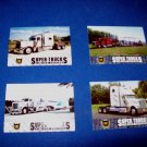 SET OF 4 CAT SCALE SUPER TRUCKS COLLECTOR CARDS - LIMITED EDITION (LOT 12)