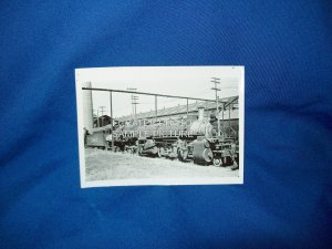 VINTAGE TRAIN ENGINE PHOTO - SANTA FE 1185 - 1933