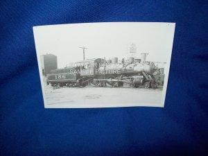 VINTAGE TRAIN ENGINE PHOTO - FRISCO 186 - 1948