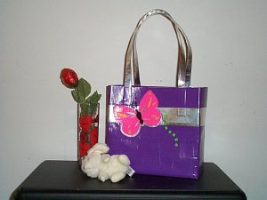 Purple bag with Pink butterfly