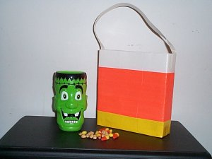 Candy Corn Lunch Tote