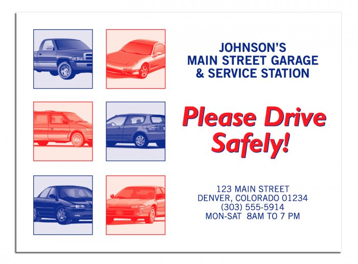 "6517 ""Please Drive Safely"" Floor Mat QTY. 250"