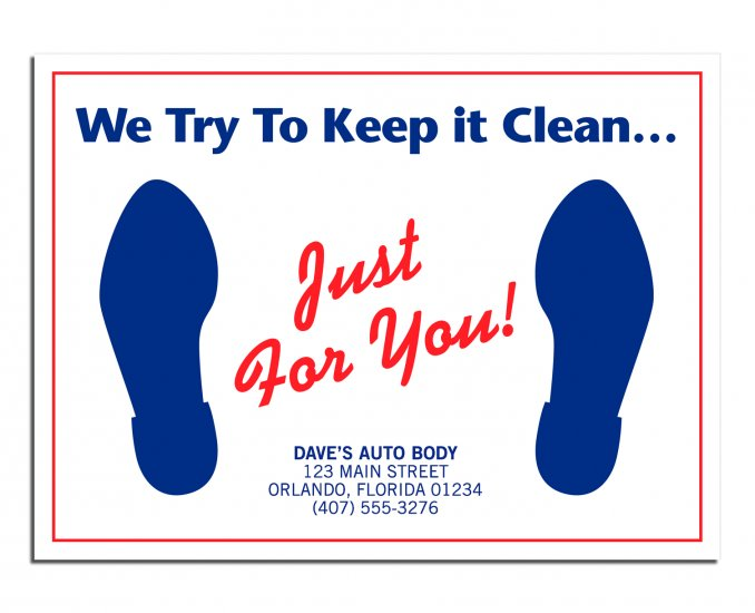 """6515 """"Just For You"""" Floor Mat QTY. 250"""