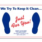"6515 ""Just For You"" Floor Mat QTY. 250"