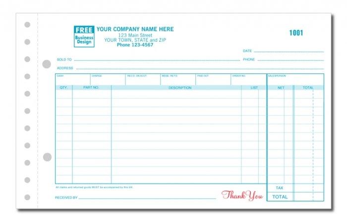 657 Auto Parts Sales Order, 3PT, QTY. 500