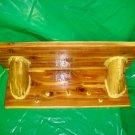 Rustic Cedar Log Shelf