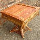 Rustic Cedar Table for indoor cabin / outdoor patio