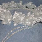 First Communion Rose Wreath with Dangly Beads