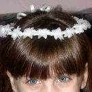 First Communion Flower Girl Flowered Wreath With Ribbon