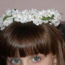 First Communion Flower Girl Cherry Blossom Wreath Headpiece