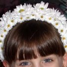 First Communion Flower Girl Headband Daisies
