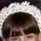 First Communion Flower Girl Headband Daisies