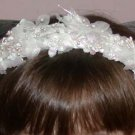 First Communion Headband Orchids and Pearls