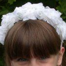 First Communion  Organza  Flower Headband
