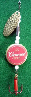 Novelty Fishing Lure - Genesee Beer Cap Spinner