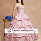 New sexy Light-Pink Prom/Ball/Evening strapless WeddingDress Custom Size  voile&satin