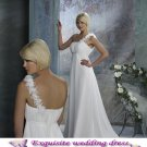 New white sexy Prom/Ball/Evening strapless pregnant woman' WeddingDress Custom Size  voile&satin