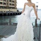 New sexy Prom/Ball/Evening strapless white WeddingDress Custom Size  voile&satin W002-2