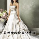 New sexy Prom/Ball/Evening strapless white WeddingDress Custom Size  voile&satin W002-23