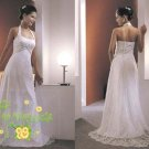New sexy Prom/Ball/Evening white WeddingDress Custom Size  voile&satin W002-25