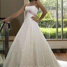 New sexy Prom/Ball/Evening white WeddingDress Custom Size  voile&satin W002-29