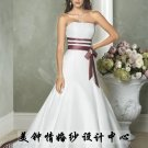 New sexy Prom/Ball/Evening strapless white WeddingDress Custom Size  voile&satin W002-48