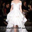 New sexy Prom/Ball/Evening strapless white WeddingDress Custom Size  voile&satin W002-63