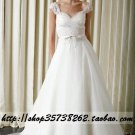 New sexy Prom/Ball/Evening white WeddingDress Custom Size  voile&satin W002-67
