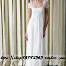 New sexy Prom/Ball/Evening white WeddingDress Custom Size  voile&satin W002-68