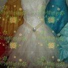 New sexy Prom/Ball/Evening strapless white WeddingDress Custom Size  voile&satin W002-77
