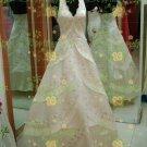 New sexy Empire Halter Top deep V-neck Wedding Dress Custom Size  voile&satin W002-81
