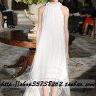 sexy Empire High-neck Sweep train Chiffon wedding dress for brides Custom Size  voile&satin W002-83
