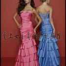New sexy Prom/Ball/Evening strapless Blue WeddingDress Custom Size  voile&satin W003-3