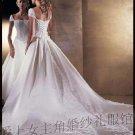 New sexy A-Line/Princess strapless white WeddingDress Custom Size  voile&satin W003-5