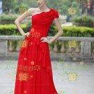 New sexy Prom/Ball/Evening strapless Red WeddingDress Custom Size  voile&satin W002-89