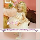 A-line Square-neck Knee-Length Organza Flower Girl Dress Custom Size WG004-3