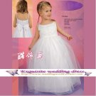 A-Line Spagetti Straps Tea-length organza Flower girls Dress Custom Size WG004-4