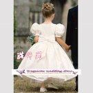 A-line Around-neck Knee-Length Flower Girl Dress Custom Size WG004-9