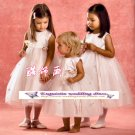 A-line Around-neck kness-Length Organza Flower Girl Dress Custom Size WG004-18
