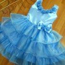 A-line Around-neck kness-Length Organza Flower Girl Dress Custom Size WG004-31