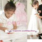A-line Around-neck kness-Length Organza Flower Girl Dress Custom Size WG004-32