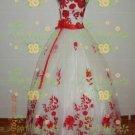 New sexy Ball Gown strapl white WeddingDress Custom Size  voile&satin W002-100