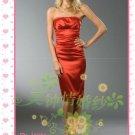 New sexy strapless Prom/Ball/Evening WeddingDress Custom Size  voile&satin W002-107