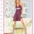 New sexy strapless Prom/Ball/Evening WeddingDress Custom Size  voile&satin W002-108