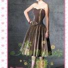 New sexy strapless Prom/Ball/Evening WeddingDress Custom Size  voile&satin W002-111