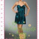 New sexy strapless Prom/Ball/Evening WeddingDress Custom Size  voile&satin W002-114
